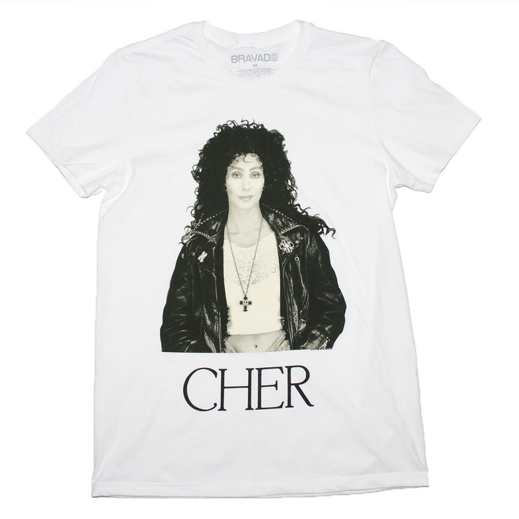 CHER Turn Back Time Women/'s Sz L T-shirt By Bravado 100/% Cotton Black