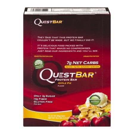 Quest Nutrition Questbar Protein Bar, tarte aux pommes, 2,12 Oz