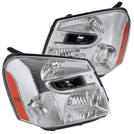 Chevrolet Equinox Replacement Headlight - Spec-D Tuning For 2005-2009 Chevy Chevrolet Equinox Replacement Clear Headlights Head Lights Driving Lamps (Left+Right) 2005 2006 2007 2008 2009
