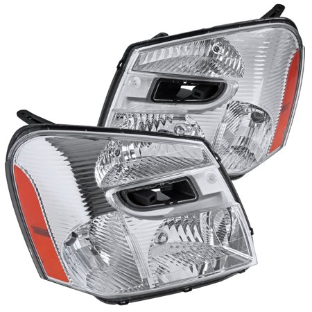 Spec-D Tuning For 2005-2009 Chevy Chevrolet Equinox Replacement Clear Headlights Head Lights Driving Lamps (Left+Right) 2005 2006 2007 2008 2009 Chevy Chevrolet K1500 Headlight