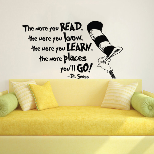 Decal House Dr Seuss the More That You Read Wall Decal