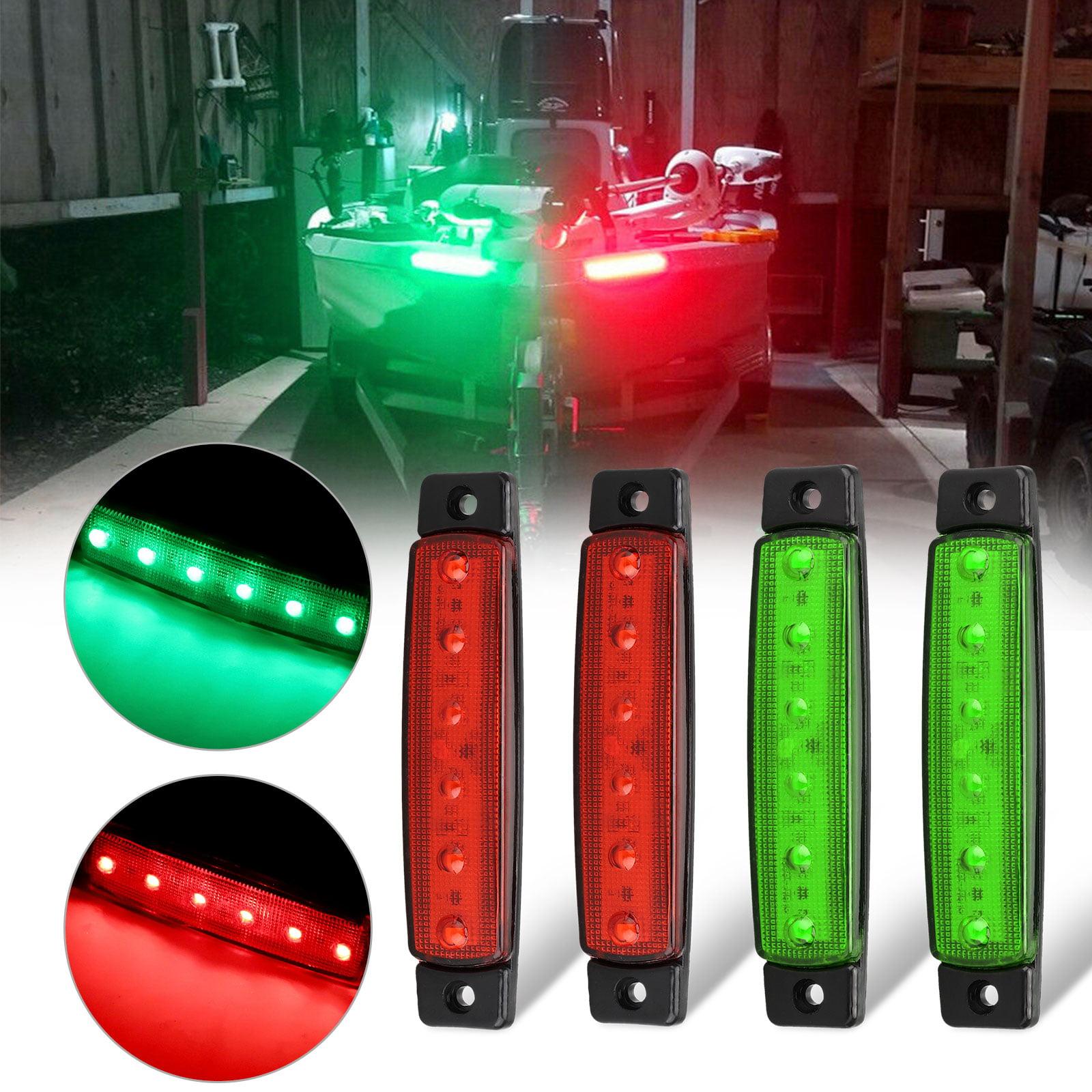 Kingshowstar Boat Navigation Light 12V LED Boat Bow Lights Stainless Steel Marine Red//Green Signal Light Indicator for Pontoon Kayak Boat Yacht Motorboat