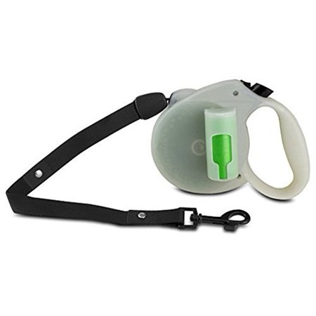 PAW Bio Retractable Leash with Green Pick-up Bags, Glow in the dark- XSDP -GL-1967 - Walking the dog may seem easy, but you always need to make sure you've got the proper supplies, so make sure y (How Does Glow In The Dark Work)