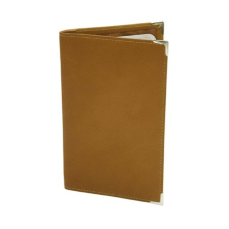 Piel Leather Vertical Score Card Cover - Saddle