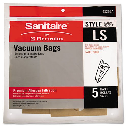 Eureka®Commercial Upright Vacuum Cleaner Replacement Bags, Style LS, 5/Pack, 10 PK/CT