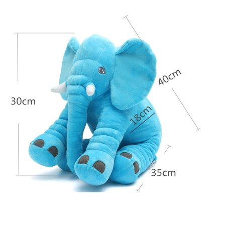 Baby Animals Cube (Stuffed Animal Soft Cushion Baby Sleeping Soft Pillow Elephant Plush Cute Toy for Kids Birthday Christmas Gift)