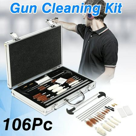 106Pc Universal Gun Cleaning Kit Rifle Pistol Handgun Shotgun Firearm