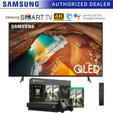 "Samsung QN55Q60RA 55"" Q60 QLED Smart 4K UHD TV (2019 Model) with Microsoft Xbox One X 1TB Console Bundle"