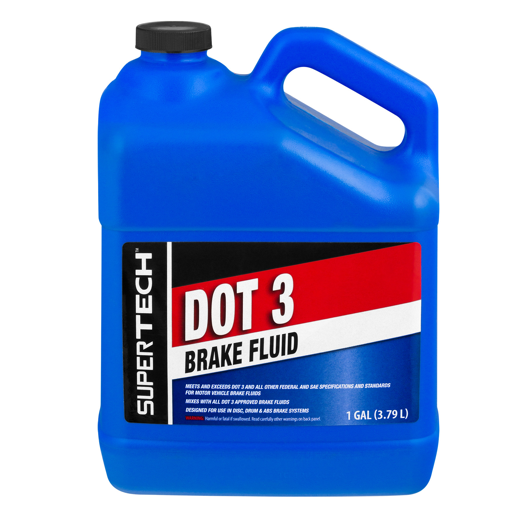 Super Tech Dot 3 Brake Fluid - 1 GAL, 1.0 GAL