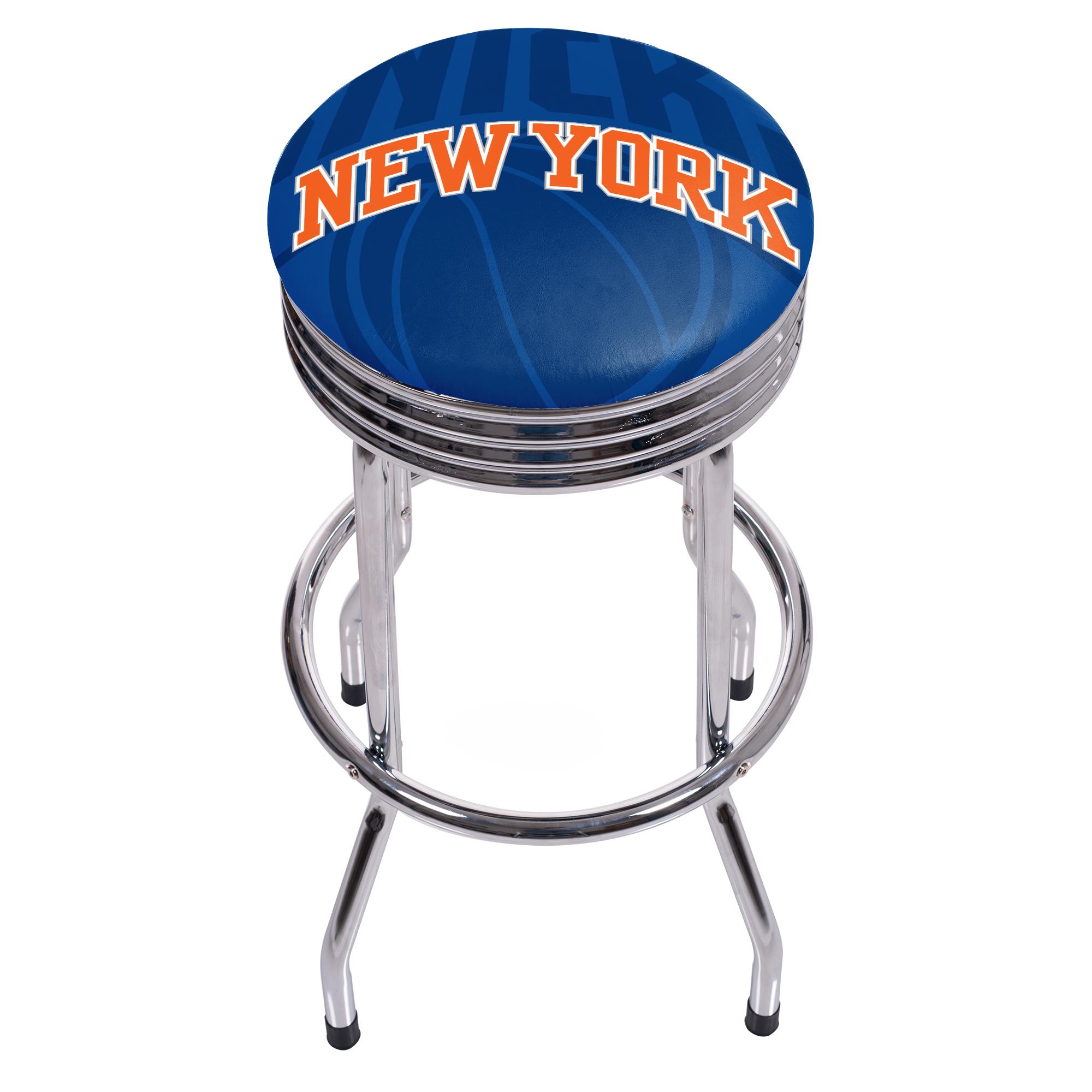 NBA Chrome Ribbed Bar Stool - Fade - New York Knicks