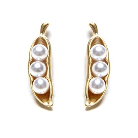 Women Bead Earrings Girl Party Anniversary Gift Ear Studs Female Wedding Jewelry - image 1 of 6