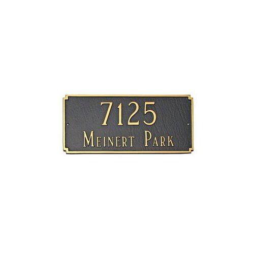 Montague Metal PCS-26E Estate Madison Decorative Rectangular Two Line Address Plaque Black by Brand New
