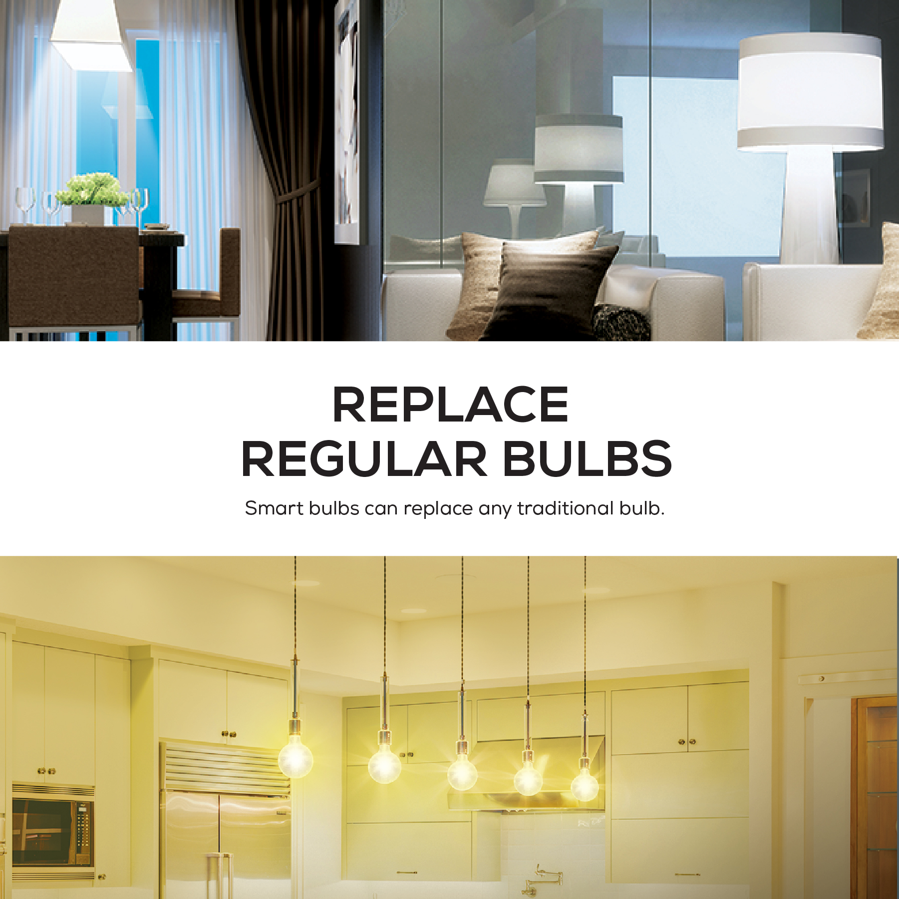 Merkury Innovations Dimmable White Smart A19 Light Bulb, 60W ...