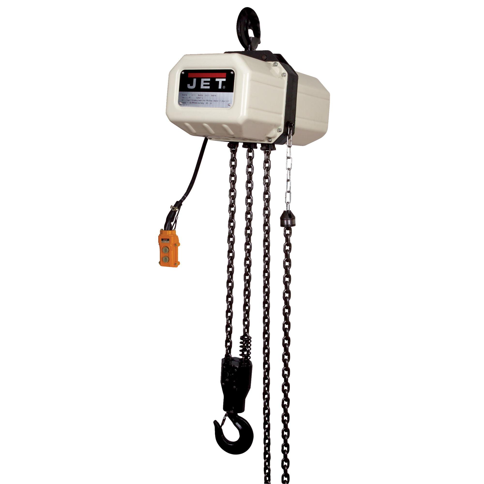 JET 3SS-3C-10 10' Lift Electric Chain Hoist 3 Ton 3PH 230/460V - 331000