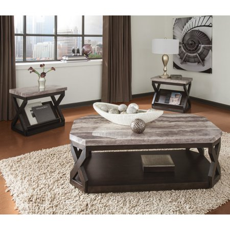 three piece living room table set. Signature Design by Ashley Radilyn 3 Piece Coffee Table Set