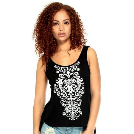 Simplicity Summer Women Sleeveless T-Shirt Vest Tank Tops, 5088_Black, S
