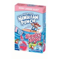 Hawaiian Punch Sugar-Free Berry Limeade Drink Mix Packets, 0.69 Oz., 8 Count