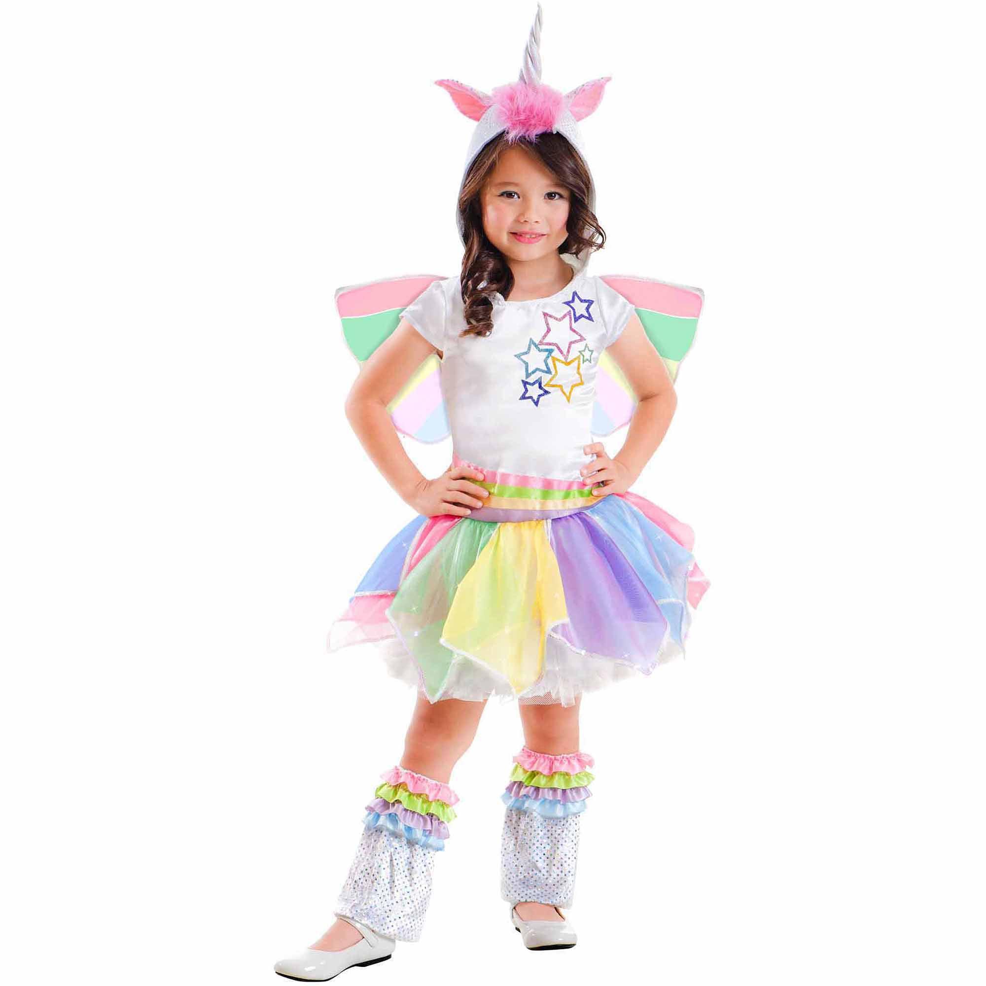 769ac4d7144c Rainbow Unicorn Child Halloween Costume - Walmart.com