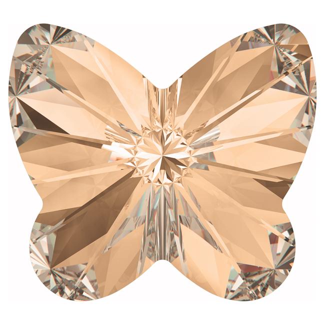 Swarovski Crystal, #4748 Rivoli Butterfly Rhinestones 10mm, 4 Pieces, Crystal Golden Shadow F