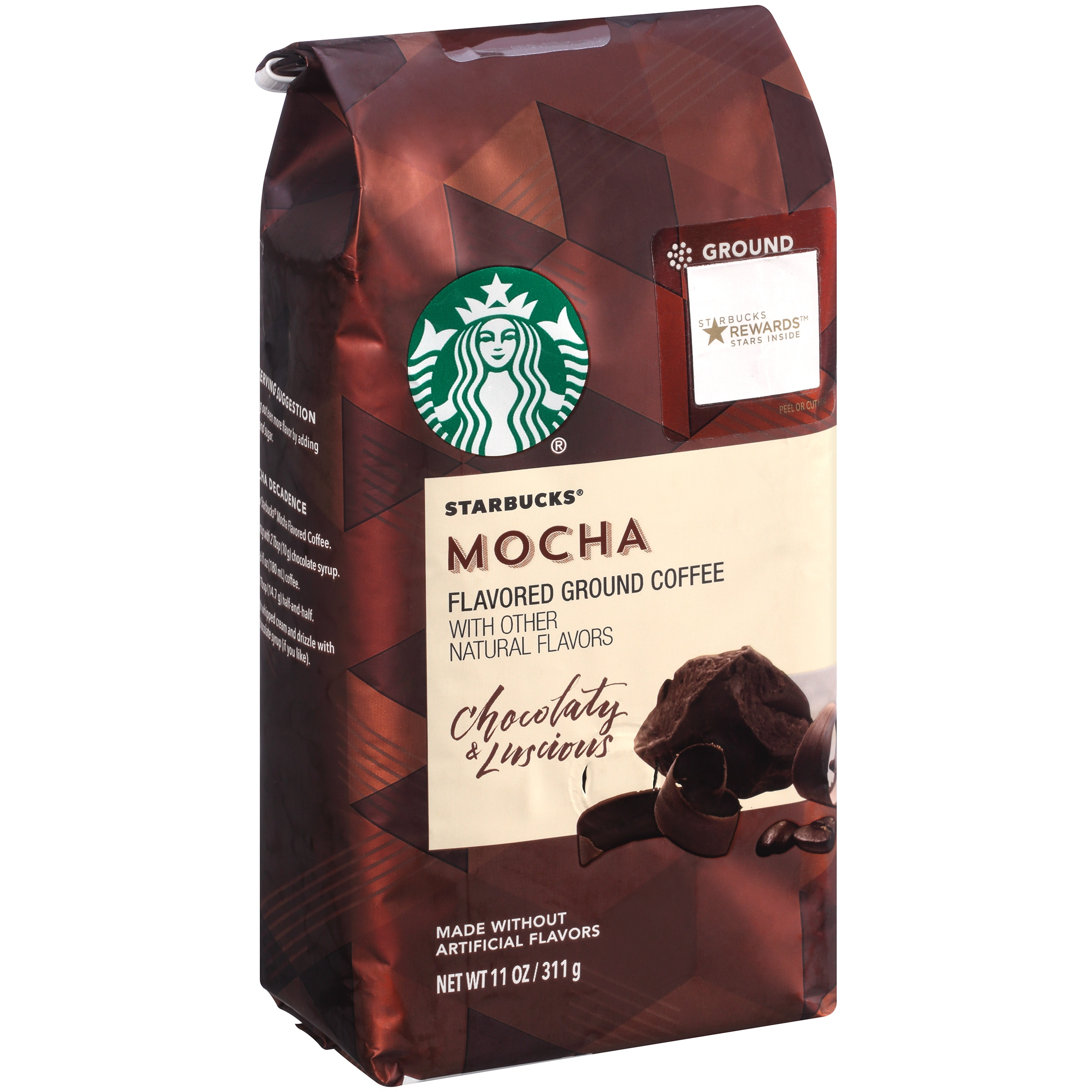 Starbucks® Mocha Flavored Coffee with Other Natural Flavor Luscious & Chocolaty 11 oz. Package