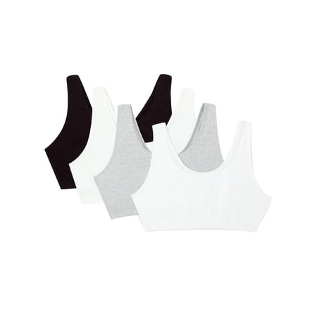 Fruit of the Loom Women's Tank Style Sports Bra, 4-Pack, style 9012 (Discount Sports Bras)