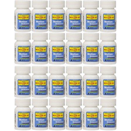 Méclizine 25 mg Générique Bonine cinétose 100 Comprimés à mâcher PACK de 24