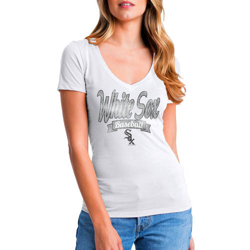 MLB Chicago White Sox Women's Short Sleeve Team Color Graphic Tee