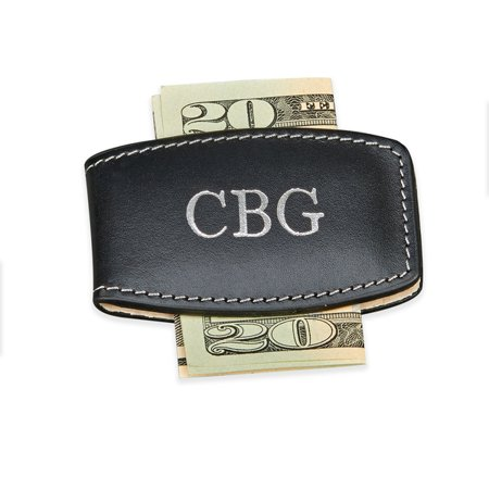 Personalized Monogrammed Black Money Clip (Personalized Money Clips)