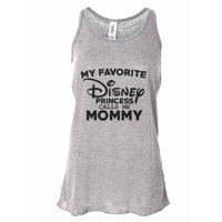 "Women's Tank Top Bella Soft ""My Favorite Disney Princess Calls Me Mommy"" X-Large, Coral"