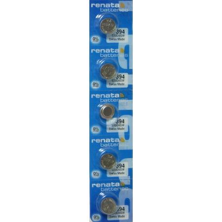 394 Watch battery - Strip of 5 Batteries ()
