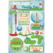 Cardstock Stickers-Mini Golf