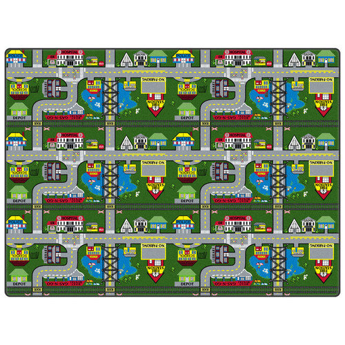 Flagship Carpets Educational Green Places To Go Area Rug