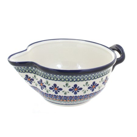 Polish Pottery Mosaic Flower Batter Bowl