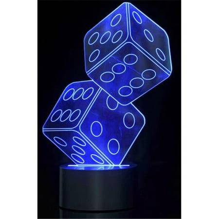 t  Optical Illusion 3D Dice Lighting - image 1 de 1