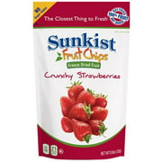 Sunkist Strawberry Slices, Crunchy Freeze Dried Fruit Chips, 0.8 oz