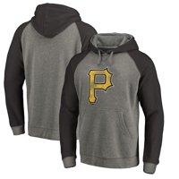 b6875dfb6f80 Product Image Pittsburgh Pirates Fanatics Branded Distressed Team Logo  Tri-Blend Raglan Pullover Hoodie - Gray
