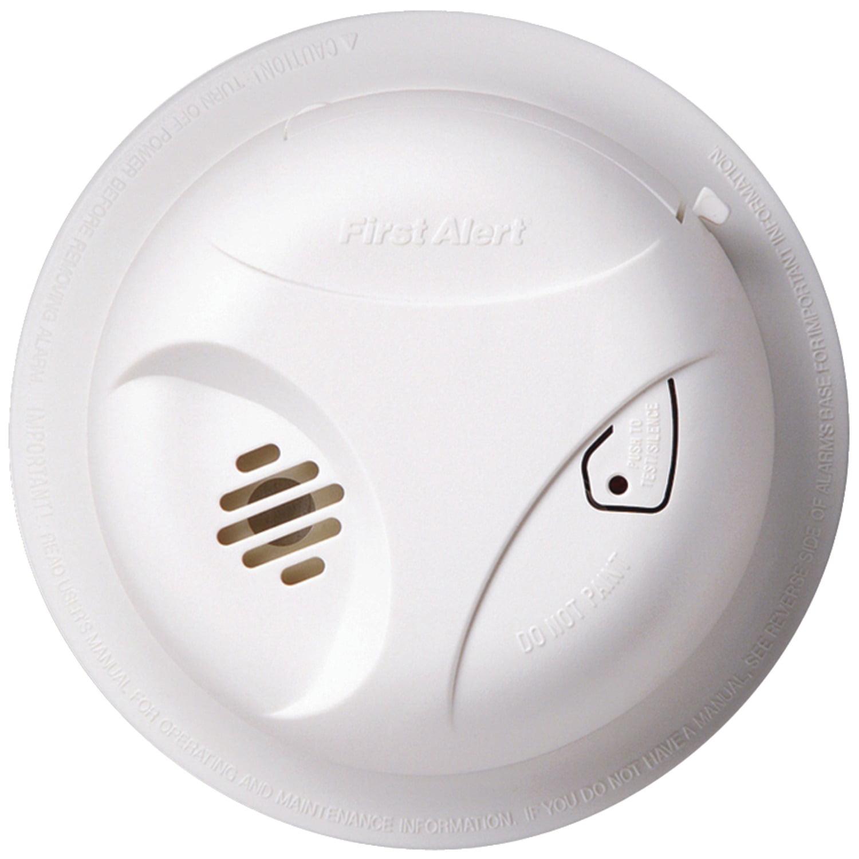 First Alert Sa303cn3 Battery Powered Smoke Alarm With Silence