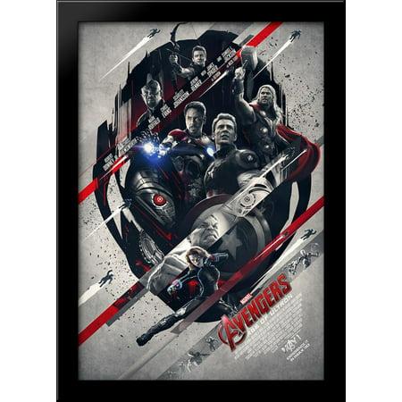 Avengers: Age of Ultron 28x40 Large Black Wood Framed Print Movie Poster Art - Walmart.com