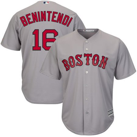 Andrew Benintendi Boston Red Sox Majestic Road Official Cool Base Replica Player Jersey - Gray