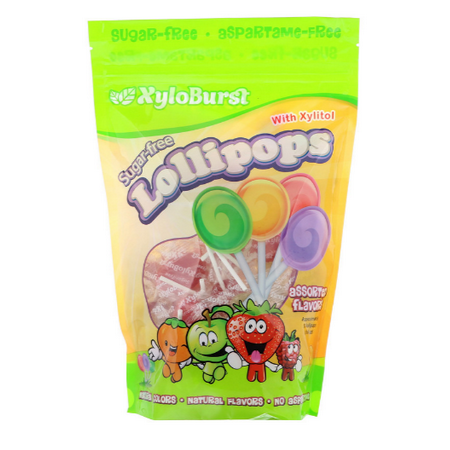 Xyloburst, Sugar-Free Lollipops, Assorted Fruit, 50 Lollipops(pack of 1) ()