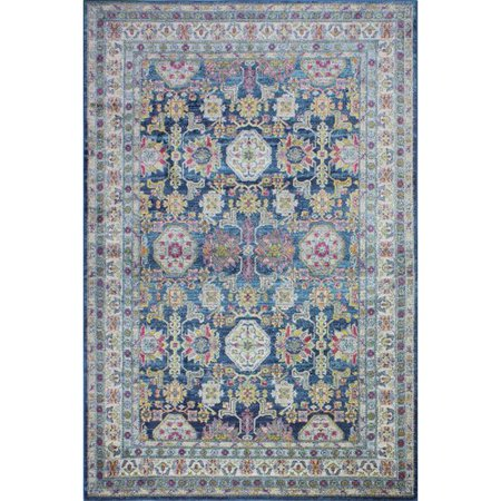 Bungalow Rose Gol Navy Area Rug