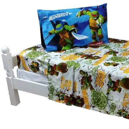 Teenage Mutant Ninja Turtles Bed Sheet Set TMNT Turtle Power Bedding Accessor
