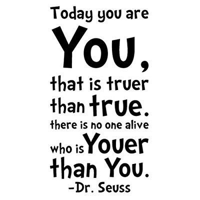 NYKKOLA Dr Seuss Today You Are You Wall Art Vinyl Decals Stickers Quotes and Sayings Home Art Decor Decal Love Kids Bedroom](Halloween Sayings Kids)
