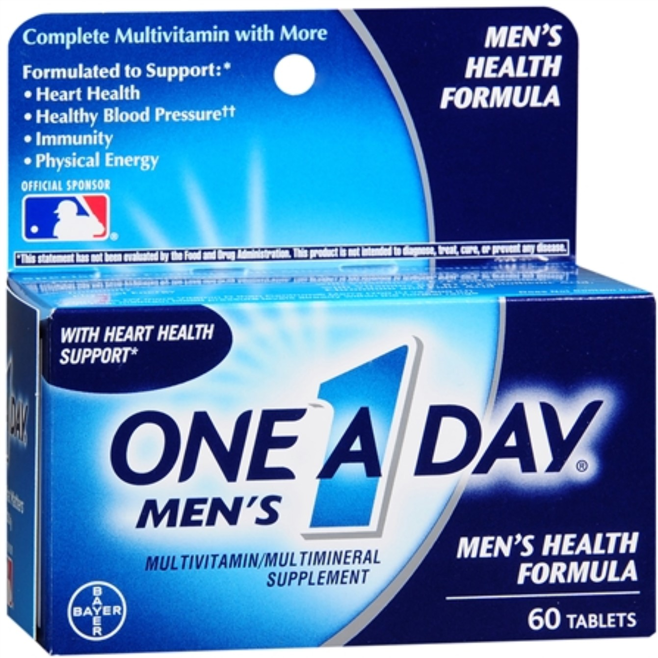 One-A-Day Men's Health Formula Tablets 60 ea (Pack of 6)