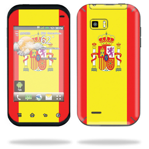 Mightyskins Protective Skin Decal Cover for LG myTouch Q C800 Cell Phone wrap sticker skins Spain Flag