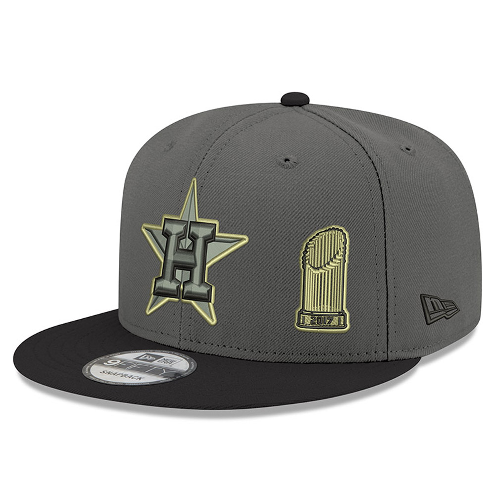 Houston Astros New Era 2017 World Series Champions Trophy 9FIFTY Adjustable Snapback Hat - Graphite - OSFA
