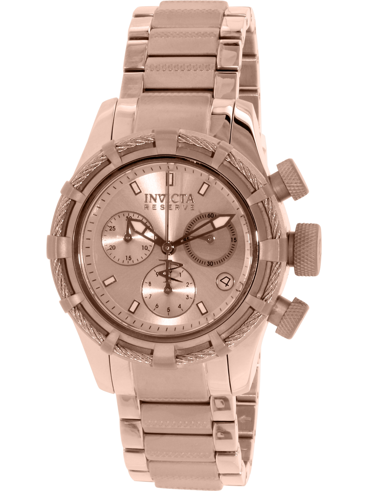 12460 Women's Bolt Reserve Rose Gold Dial Rose Gold Steel Chronograph Dive Watch