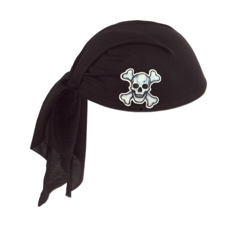 Black Deluxe Pirate Scarf Hat](Pirate Hat Cheap)