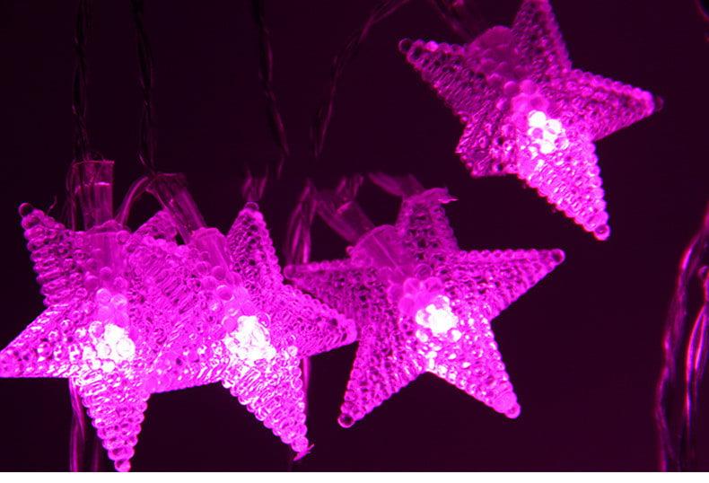 Mr.Garden String Lights 8.2ft with 20 LEDs, Star Lights for Bedroom, Patio,  Garden, Gate, Yard, Parties, Wedding.(Pink) - Walmart.com