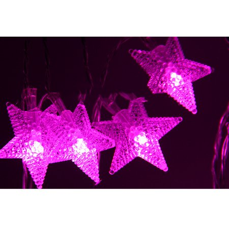 Mr.Garden String Lights 8.2ft with 20 LEDs, Star Lights for Bedroom, Patio,  Garden, Gate, Yard, Parties, Wedding.(Pink)